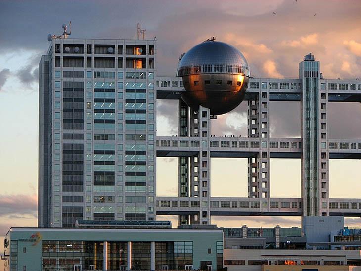 Fuji television building, Tokyo, Japonia