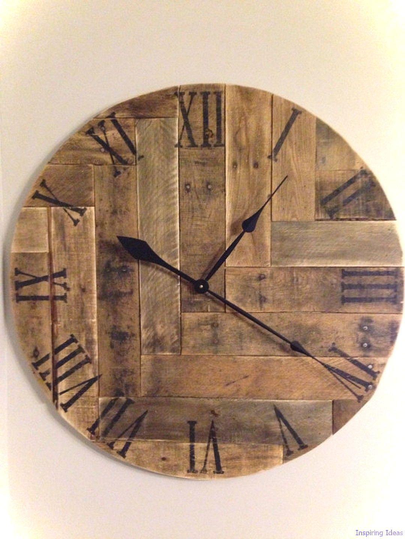 idee decor rustic 42 ceas de lemn